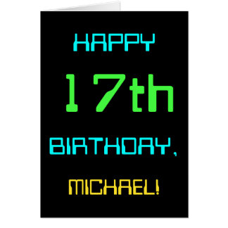 Fun Digital Computing Themed 17th Birthday Card