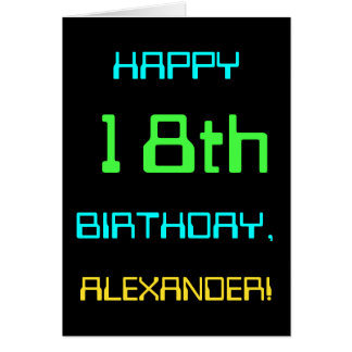 Fun Digital Computing Themed 18th Birthday Card