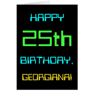 Fun Digital Computing Themed 25th Birthday Card