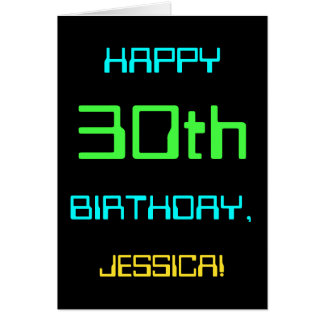 Fun Digital Computing Themed 30th Birthday Card