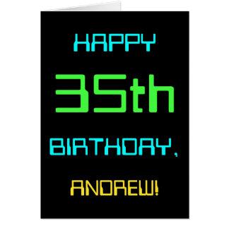 Fun Digital Computing Themed 35th Birthday Card