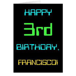 Fun Digital Computing Themed 3rd Birthday Card
