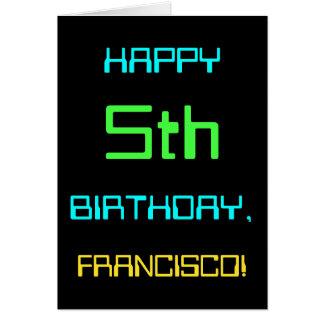 Fun Digital Computing Themed 5th Birthday Card