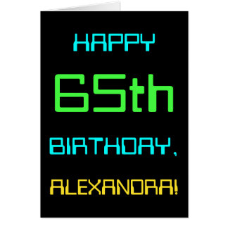Fun Digital Computing Themed 65th Birthday Card
