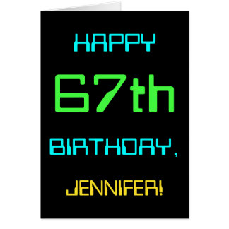 Fun Digital Computing Themed 67th Birthday Card