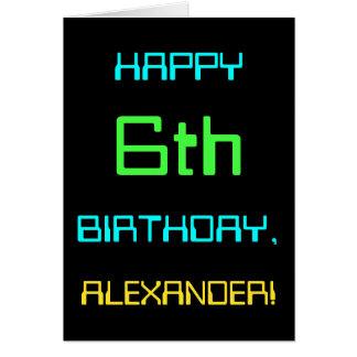 Fun Digital Computing Themed 6th Birthday Card