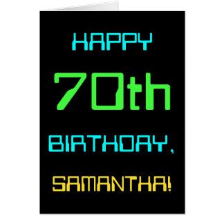 Fun Digital Computing Themed 70th Birthday Card