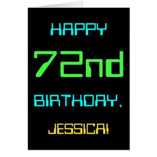 Fun Digital Computing Themed 72nd Birthday Card