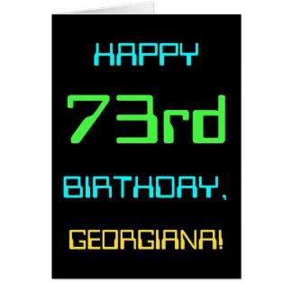 Fun Digital Computing Themed 73rd Birthday Card