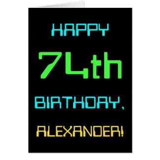 Fun Digital Computing Themed 74th Birthday Card