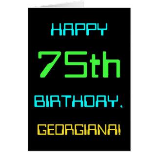 Fun Digital Computing Themed 75th Birthday Card