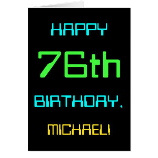 Fun Digital Computing Themed 76th Birthday Card