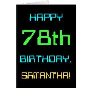 Fun Digital Computing Themed 78th Birthday Card