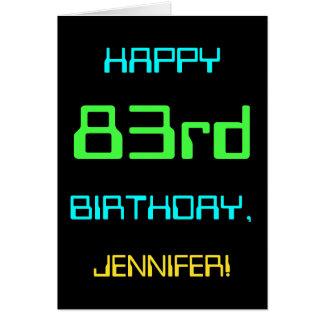 Fun Digital Computing Themed 83rd Birthday Card