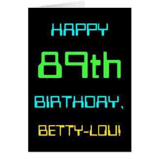 Fun Digital Computing Themed 89th Birthday Card