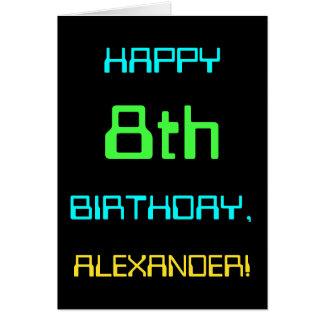 Fun Digital Computing Themed 8th Birthday Card