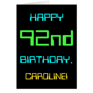 Fun Digital Computing Themed 92nd Birthday Card