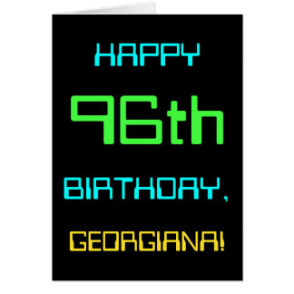 Fun Digital Computing Themed 96th Birthday Card