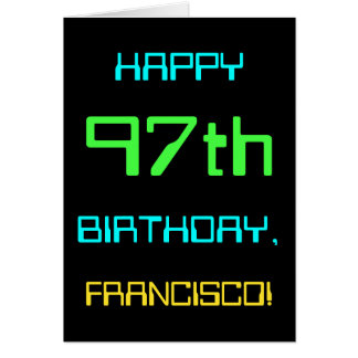 Fun Digital Computing Themed 97th Birthday Card