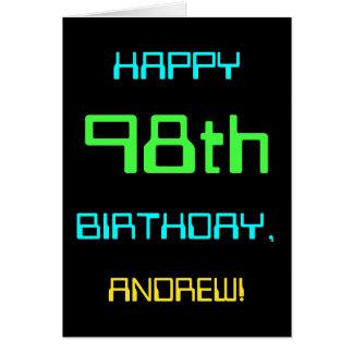 Fun Digital Computing Themed 98th Birthday Card