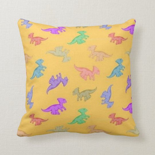 Fun Dino Pattern Throw Pillow