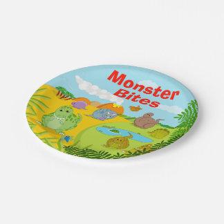 Fun dino prehistoric Jurassic dinosaur landscape, Paper Plate