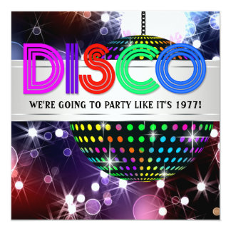 Fun Disco Party Invitations