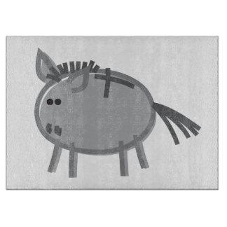 Fun Donkey on White Cutting Boards