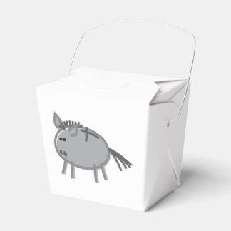 Fun Donkey on White Favour Boxes
