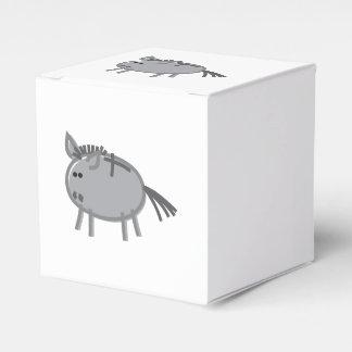 Fun Donkey on White Party Favour Box