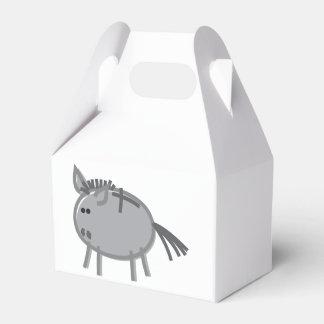 Fun Donkey on White Party Favour Boxes