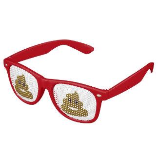 Fun Don't Give A Poop Emoji Retro Sunglasses
