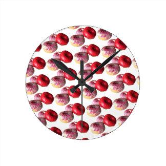 Fun Donuts Round Wall Clock