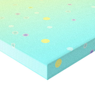 Fun Dots Wrapped Canvas Print