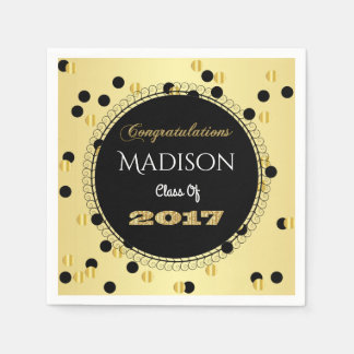 Fun & Elegant 2017 Graduation Disposable Napkins
