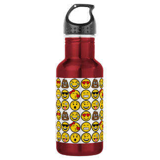 Fun Emoji Pattern Emotion Faces 532 Ml Water Bottle