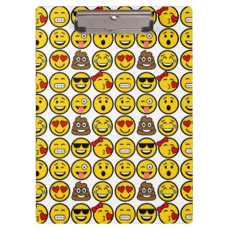 Fun Emoji Pattern Emotion Faces Clipboard