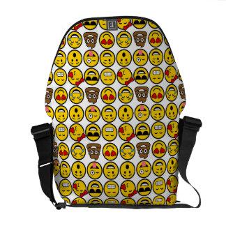 Fun Emoji Pattern Emotion Faces Commuter Bags