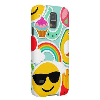 Fun Emoji Sticker Pattern Cases For Galaxy S5