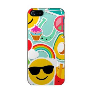 Fun Emoji Sticker Pattern Incipio Feather® Shine iPhone 5 Case