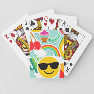 Fun Emoji Sticker Pattwern Playing Cards