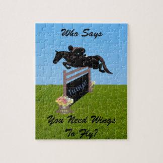 Fun Equestrian Horse Jumper Jigsaw Puzzle