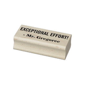 "Fun ""EXCEPTIONAL EFFORT!"" Educator Rubber Stamp"