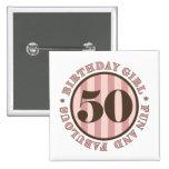 Fun & Fabulous 50th Birthday Gifts 15 Cm Square Badge
