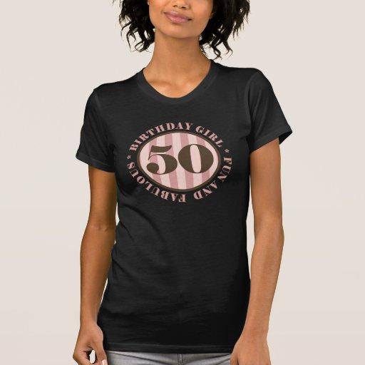 Fun & Fabulous 50th Birthday Gifts T-shirt