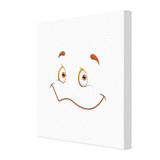 Fun Face with Smile Brown Eyes Gallery Wrap Canvas