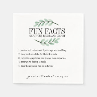 Fun Facts Eucalyptus Branches Personalized Disposable Napkins