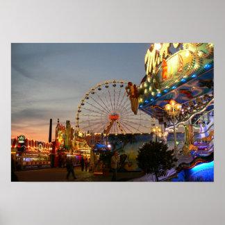 Fun fair at Bremen, Germany Poster