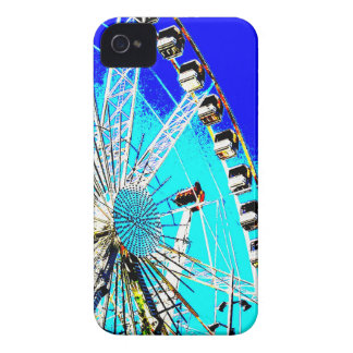 fun fair in amsterdam ferris wheel and high tower Case-Mate iPhone 4 cases