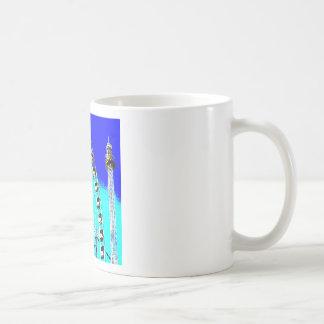 fun fair in amsterdam ferris wheel and high tower coffee mug